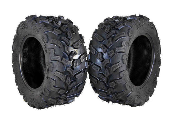 Two MASSFX 27X11-14 6-Ply Tires