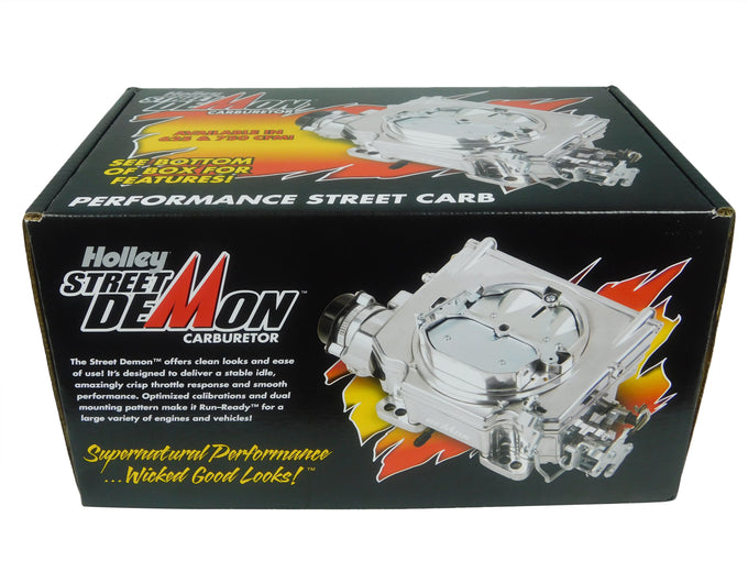 750 CFM Street Demon Carb Aluminum Finish Polymer Bowl