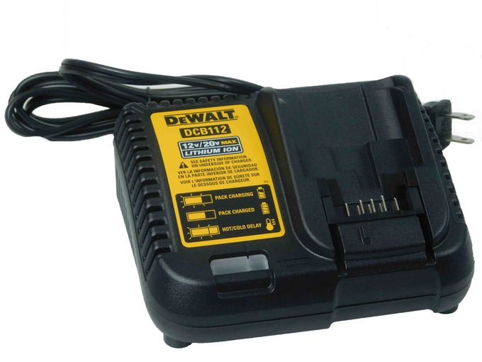 Dewalt DCB112 Black and Yellow Battery Charger