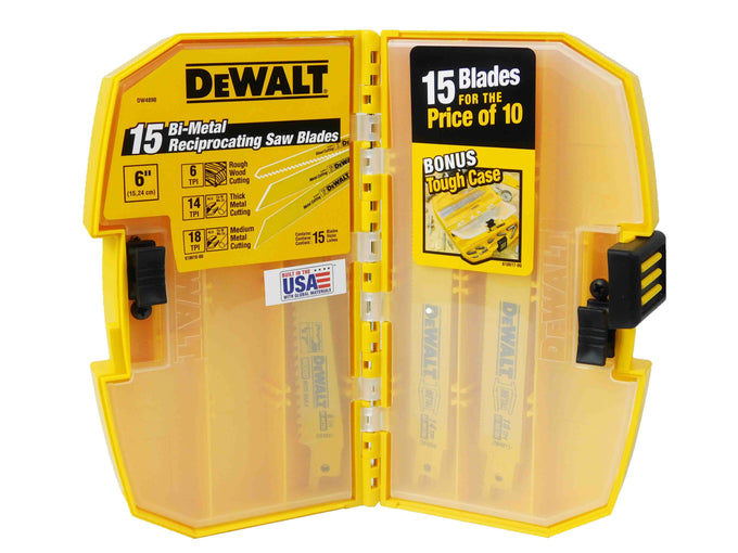 Dewalt DW4890 Black and Yellow Reciprocating Saw Blades Main Image