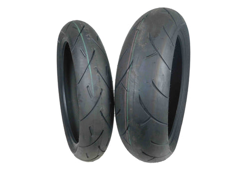 Full Bore 120/70-17 180/55-17 Radial Sportbike Motorcycle Front Tires