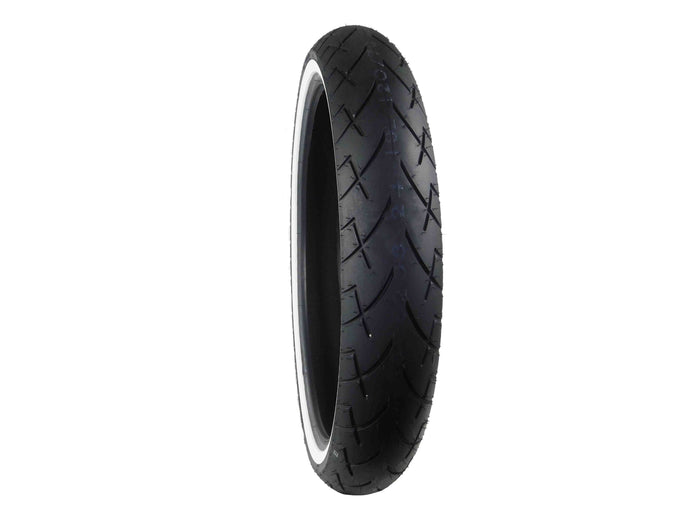 Full Bore, 120x70-21, MC, 68V, White Wall, Motorcycle, Tire, Tread