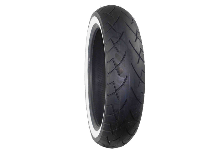 Full Bore, 130x80B-17, MC, 65H, White Wall, Motorcycle Tire, Tread