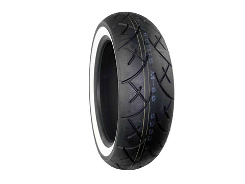 Full Bore, 180x65B-16, MC, 81H, White Wall, Motorcycle Tire, Tread
