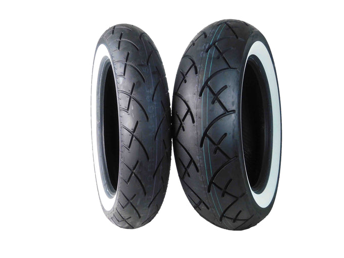 Full Bore 130/90-16 Front 170/80-15 Rear White Wall Motorcycle Tires