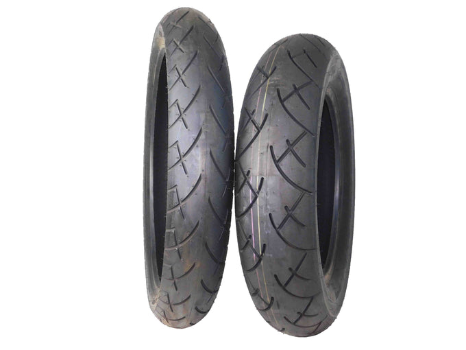 Full Bore 120/70-21 Front 150/90-15 Rear Set Cruiser Motorcycle Tires