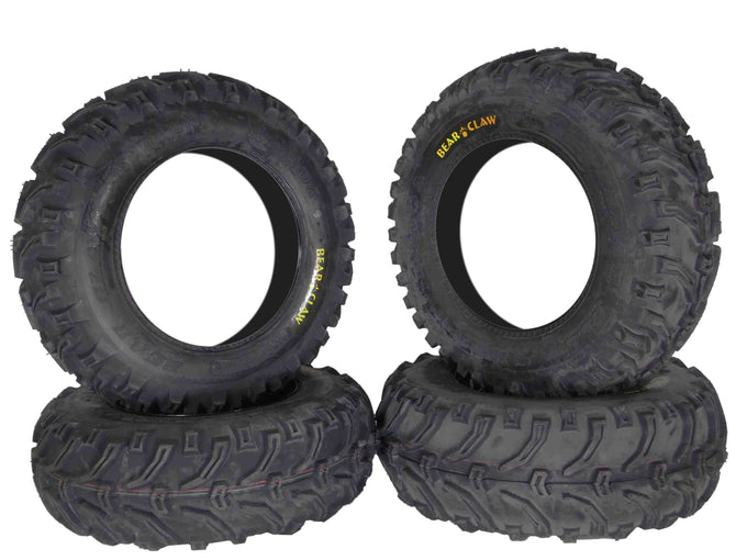 Kenda Bear Claw K299 25x8-12 25x10-12 Front & Rear ATV Tire Set 6PLY