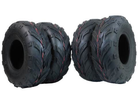 MASSFX Go Kart/ATV Tires 4 set 145x70-6 4Ply