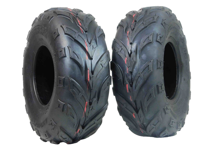 MASSFX Go Kart/ATV Tires 2 set 145x70-6 4Ply