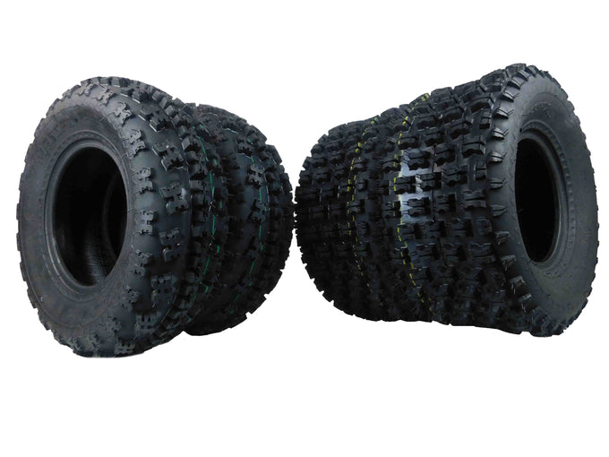 MASSFX ATV Tires 4 set 21X7-10 Front 20X10-9 Rear 4Ply
