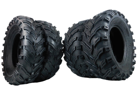 MASSFX ATV MS Tire 4 set 25x8-12 Front 25x10-12 Rear 6Ply