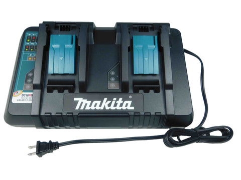 Makita, DC18RD, 18V, Lithium Ion, Dual, Port, Rapid, Optimum, Charger