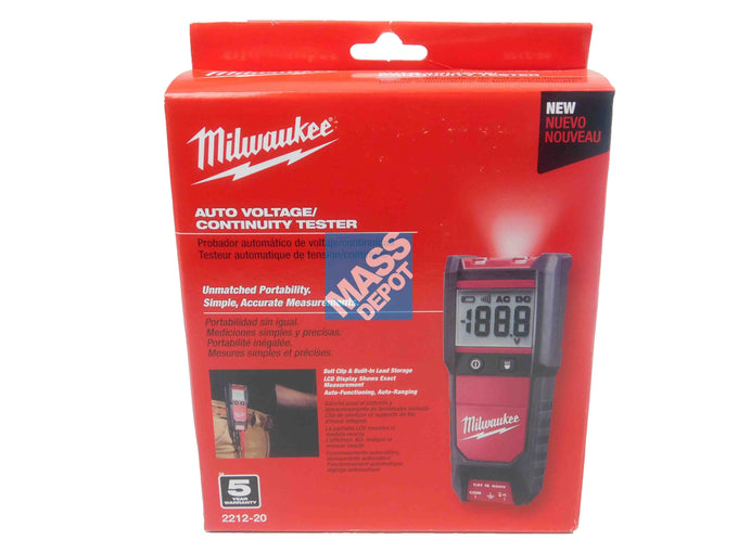 Milwaukee, 2212-20, Auto, Voltage, Continuity, Tester