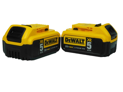 DeWalt DCB205-2 20V Volt MAX Lithium-Ion Battery Pack w/ Fuel Gauge 5 amp Ah