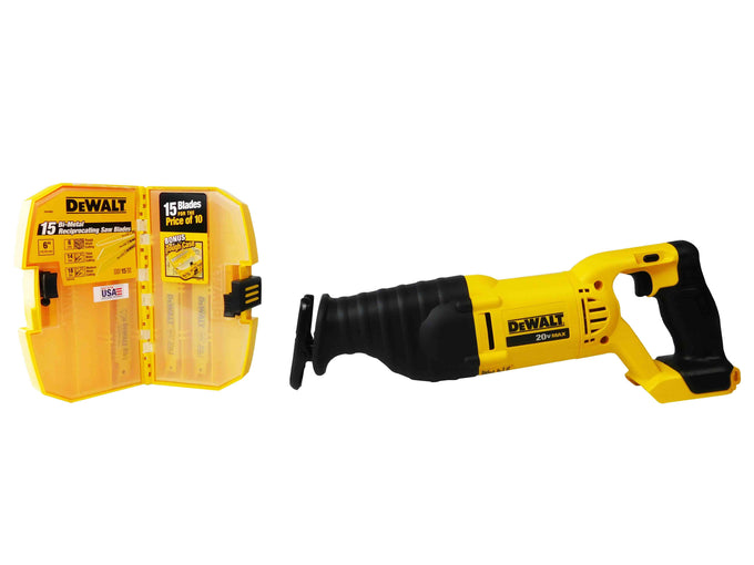 Dewalt DCS381B 20V Reciprocating Saw DW4890 15Pc Reciprocating Blades