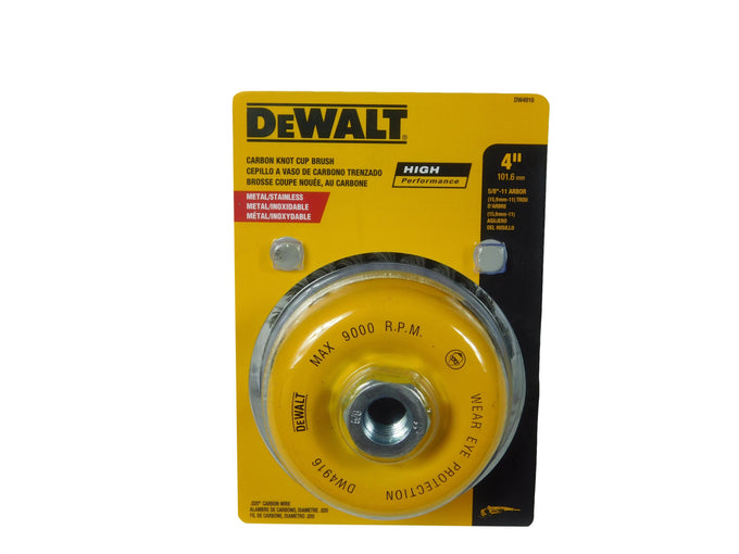 "DeWalt DW4916 4"" Knotted Cup Brush Carbon Steel"
