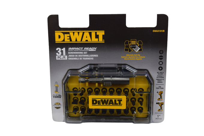 DeWalt DWAX101IR Screwdriver with Flex Torque with Case 31 Piece