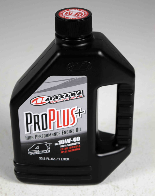 Maxima 30-02901 Pro Plus+ 10W-40 Synthetic Motorcycle Engine Oil 1 Liter Bottle