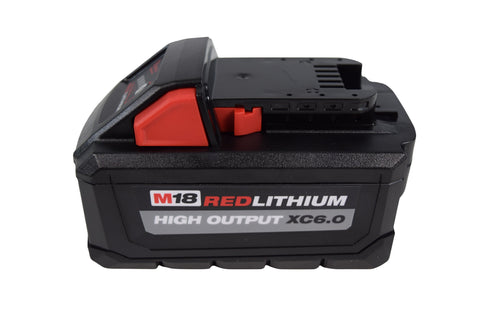 Milwaukee 48-11-1865 M18 Redlithium High Output XC6.0 Battery Single Pack
