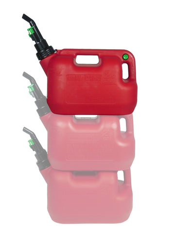 Fuelworx Stackable Gas Can CARB Compliant 2.5 Gallon Made in USA