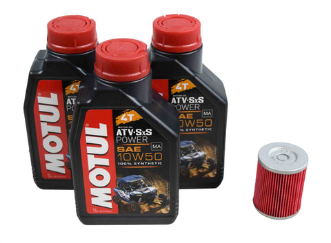 Motul 105900 10W-50 3 Liters Complete Engine Oil Change Kit with K&N Oil Filter