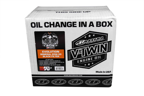 Maxima 90-069016C Black Oil Change Kit Evolution Mineral 20W-50 Filter 6 quarts
