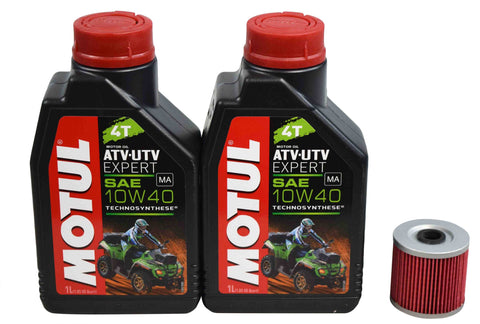 Motul 105938 10W-40 2 Liters SynBlend Engine Oil Change Kit w KN-123 K&N Filter