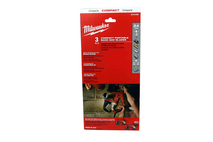Milwaukee 48-39-0539 Compact Portable Band Saw Blade 24 TPI