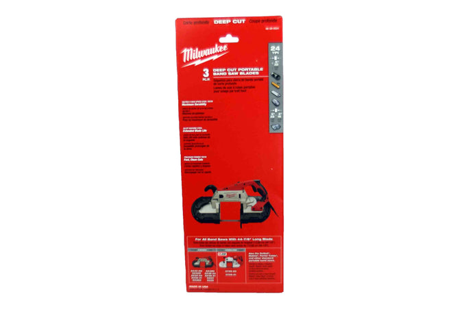 Milwaukee 48-39-0531 24 TPI Standard Deep Cut Band Saw Blade 3 Pack