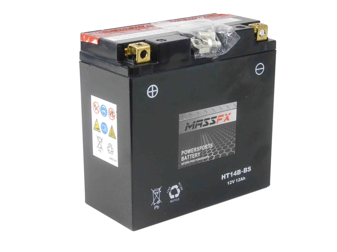 MASSFX HT14B-BS Maintenance Free VRLA Replacement Battery YT14B-BS CT14B-BS