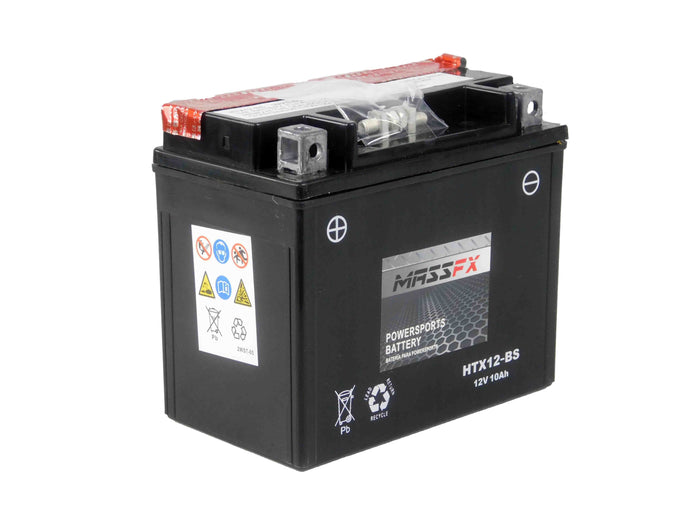 MASSFX HTX12-BS Maintenance Free VRLA Replacement Battery YTX12-BS CTX12-BS