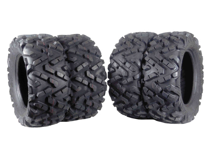 "MASSFX 4Set 26x9-14 Front 26x11-14 Rear ATV Tire 6Ply 1/2"" Tread Depth"