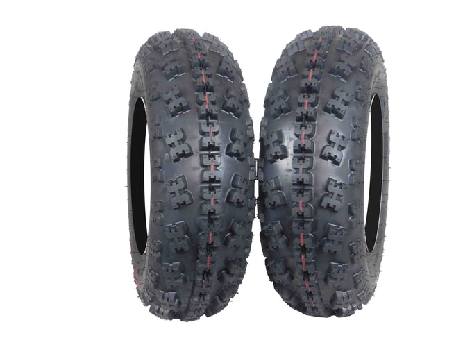 MASSFX Curved Tread 2 Set 21X7-10 ATV Tires 6ply Dual Compound 21x7x10