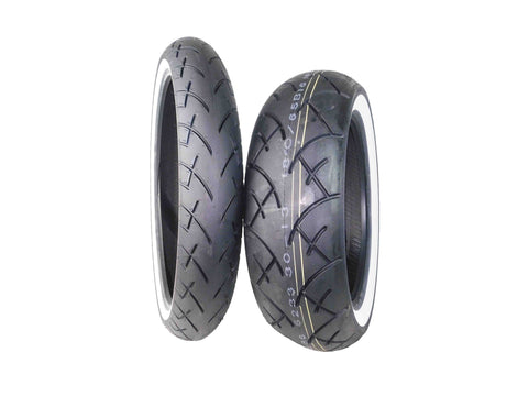 Full Bore 120/70-21 Front 180/65-16 Rear White Wall Motorcycle Tires