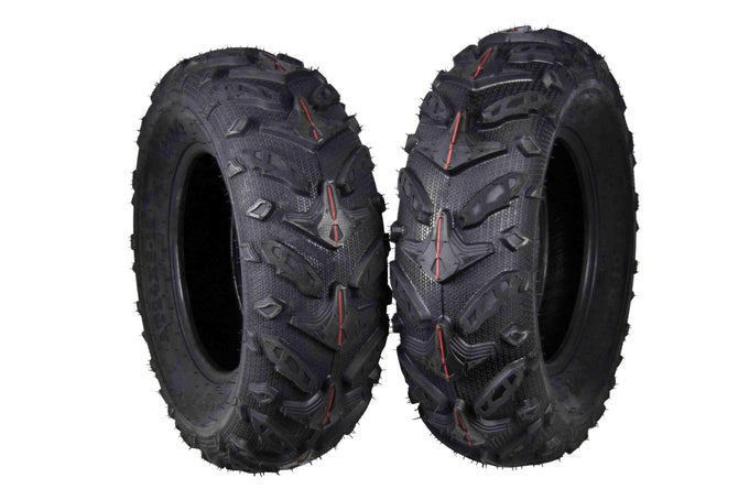 Two MASSFX 24x8-12 Tires