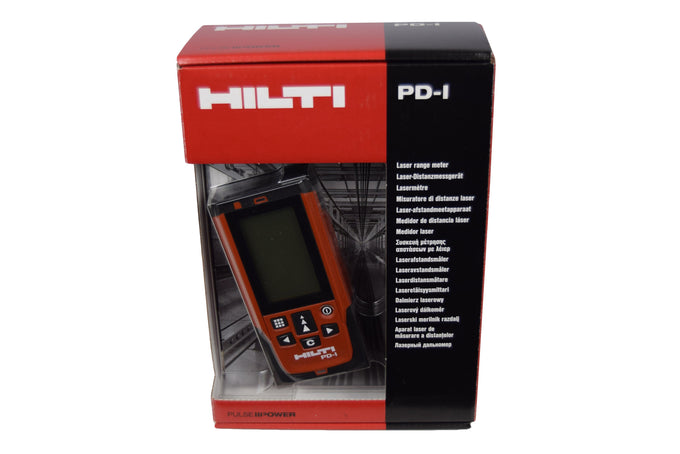 Hilti PD1 100m Laser Range Meter with PDA 50 Target Plate & PDA 72