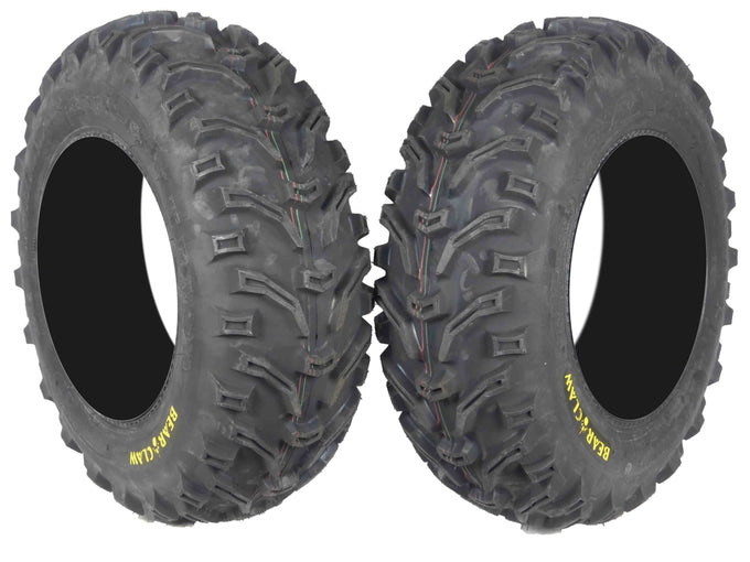 Kenda Bear Claw 25x8-12 K299 ATV Front 2 Pack Tires 6PLY