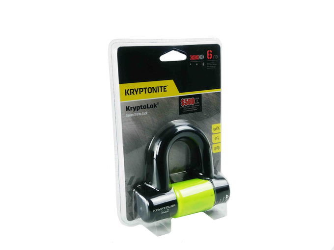 Kryptonite 999454 Black and Yellow Disc Lock Main