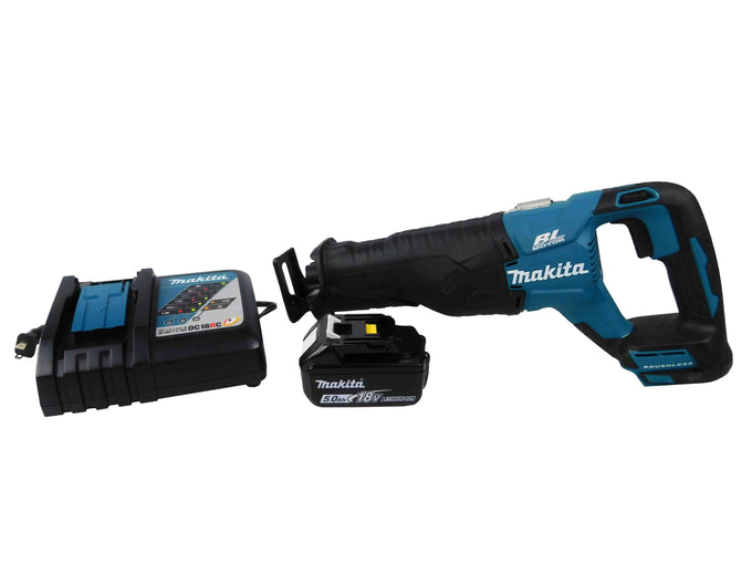 Makita XRJ05Z Black and Blue Reciprocating Saw Kit
