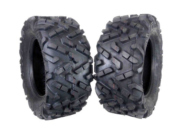 Two MASSFX 27x11-14 Tires
