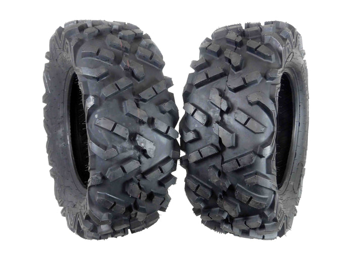 Two MASSFX 27x9-14 Tires