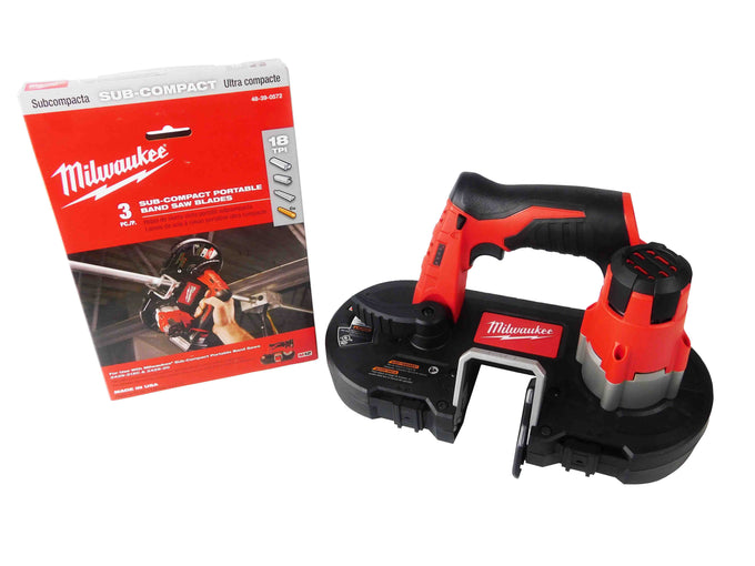 Milwaukee M12 Sub-Compact Cordless Band Saw with 18 TPI Band Saw Blade
