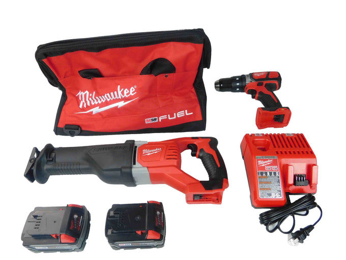 Milwaukee 2694-22 M18 18V Red-Lithium 2-Tool Cordless Combo Kit