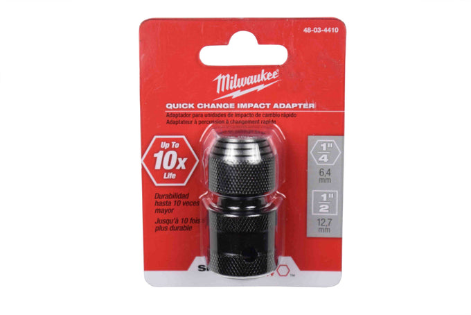 "Milwaukee 48-03-4410 SHOCKWAVE 1/2"" Square to 1/4"" Hex Adapter"