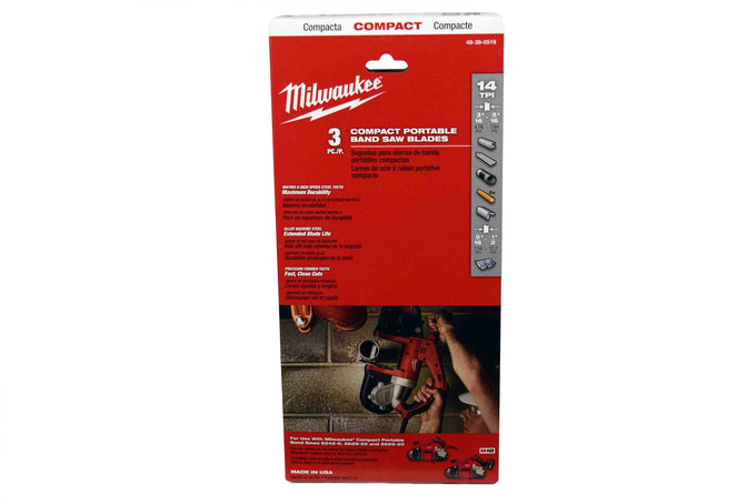 Milwaukee 48-39-0519 14 TPI Compact Portable Band Saw Blade
