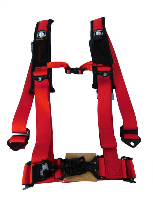 "Pro Armor A114220RD 4 Point 2"" Harness with Sewn in Pads - Red"