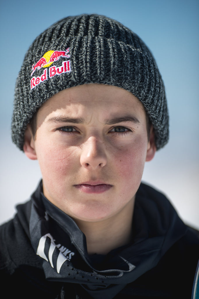 ... shoot only to dig and discover his very own Red Bull helmet buried in  the snow and welcoming him on board the team as the very first Kiwi  freeskier. 08c296fae8b