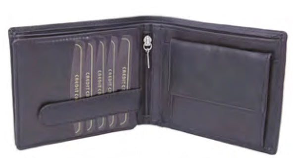 RFID Protected Long Nappa Notecase Wallet