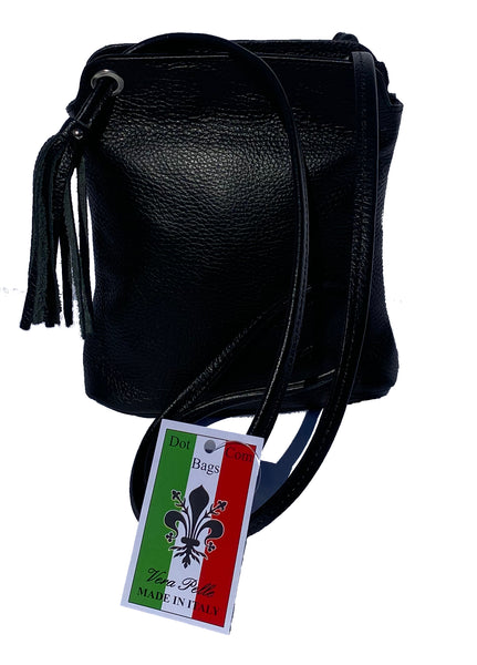 Small cross body tassel bag