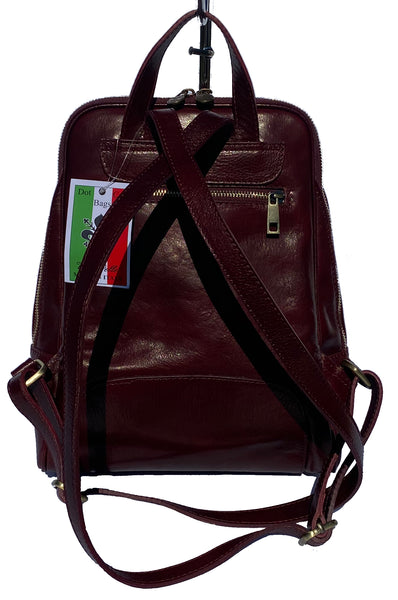 Medium saddle hide leather backpack